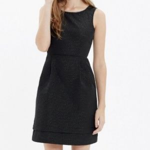 Madewell Low Light Fit & Flare Black Party Dress